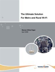 Wavion The Ultimate Solution For Metro and Rural Wi-Fi - Winncom ...