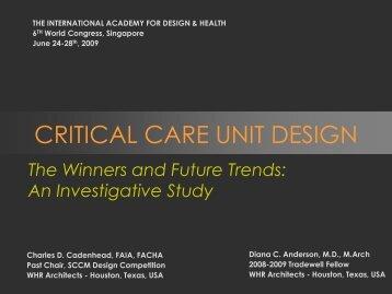 CRITICAL CARE UNIT DESIGN - the International Academy of ...