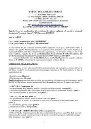 Bando integrale (297.49 KB) - Comune di Lamezia Terme