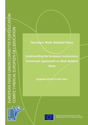 Teachers' Work-Related Stress - Teachers' Occupational Safety and ...