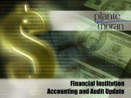 Financial Institution A&A Update - Plante Moran