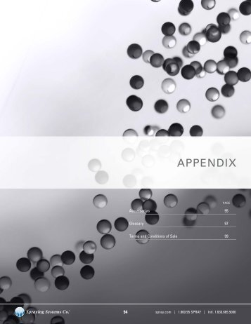 APPENDIX - Spraying Systems Co.