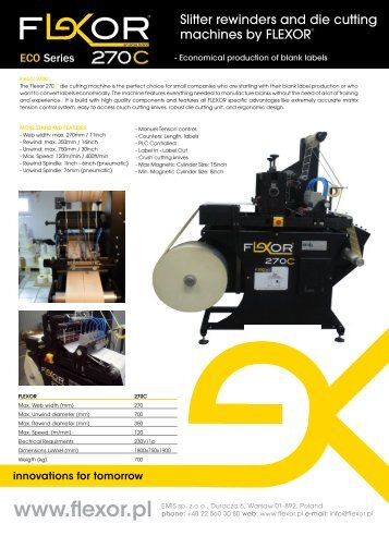 Slitter rewinders and die cutting machines by FLEXOR