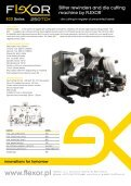 Slitter rewinders and die cutting machines by FLEXOR - Page 2
