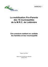 Annexe 1_Synthèse des rapports de consultation. - MRC Lotbinière