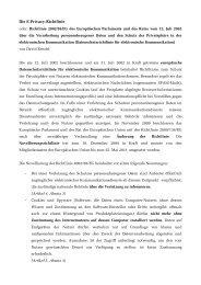 Die E-Privacy-Richtlinie - Gerold Reichenbach