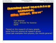 What % learned? - The UTeach Institute
