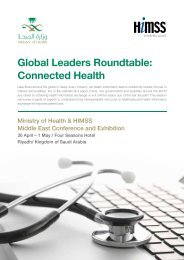 Global Leaders Roundtable: Connected Health - HIMSS Middle East