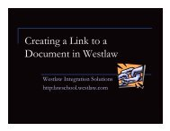 Creating a Link to a Document in Westlaw