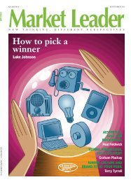 How to pick a winner - The Marketing Society