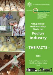 Poultry Industry - Australian Centre for Agricultural Health and Safety