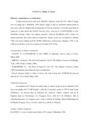 Bibliographie Sophocle - APLAES