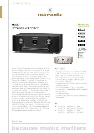 SR5007 NETWORK AV RECEIVER - Marantz