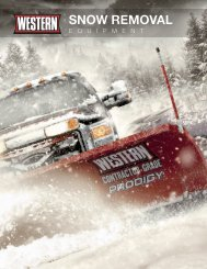 Snow Removal Equipment Brochure - Western Snow Plows