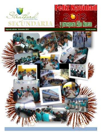 1 Segunda edición. Diciembre 2011 Revista escolar. - Stratford