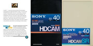Earn great rewards when you buy Sony HDCAM and HDCAM SR ...