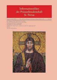 Juni 2013 - Priesterbruderschaft St. Petrus