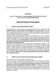 Zukunft durch Innovation - PDS Sachsen-Anhalt