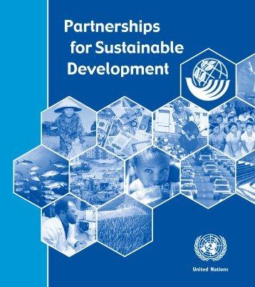 Partnerships for Sustainable Development