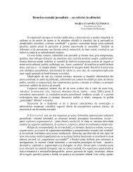 Retorica textului jurnalistic – cu referire la editorial - Universitatea ...