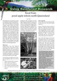 Feral Fruit - Rainforest Cooperative Research Centre