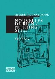 NOUVELLES DE RIEN / NOTHING STILL