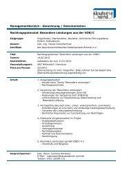 Nachtragspotenzial: Besondere Leistungen aus der VOB/C ...
