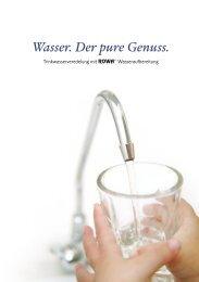 Wasser. Der pure Genuss.