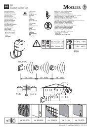 Xcomfort CSAU-01/01 868,3 MHz ca. 60-90% ca. 80-95 ... - Moeller