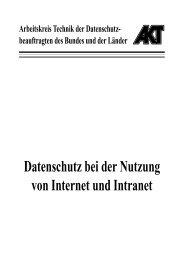 Datenschutz bei der Nutzung von Internet und Intranet (PDF)