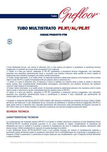 15 SCHEDA TECNICA TUBO MULTISTRATO PERT-AL-PERT