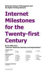 Internet Milestones for the Twenty-first Century - What would you like ...