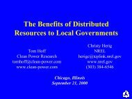 The Benefits of Distributed Resources to Local Governments