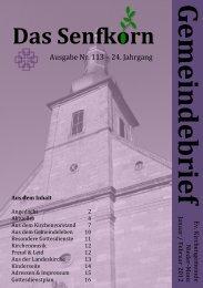 Gemeindebrief 2012-1 - Evangelische Kirchengemeinde Nieder-Moos