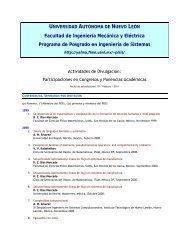 Platicas profes-alum.. - Universidad Autónoma de Nuevo León