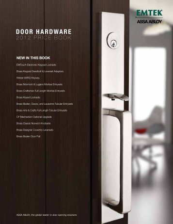 DOOR HARDWARE - Top Notch Distributors, Inc.