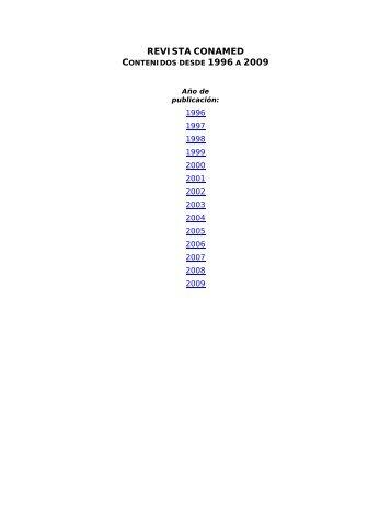 REVISTA CONAMED - Comisión Nacional de Arbitraje Médico