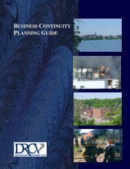 business continuity planning guide - Wisconsin Indianhead ...