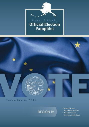 Official Election Pamphlet - Alaska Elections State Division of Elections