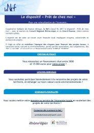 Le dispositif « Prêt de chez moi » - Rhône-Alpes Solidaires