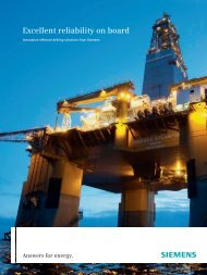 Offshore Drilling Solutions - Siemens