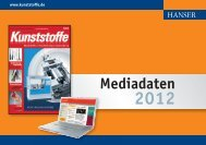 KU Mediadaten 2012 - Carl Hanser Verlag