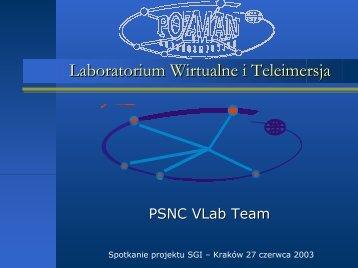 VLAB - Virtual Laboratory PSNC