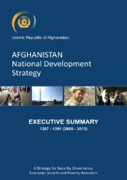 Islamic Republic of Afghanistan - Enhanced Integrated Framework ...