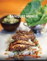 Banquet Menus - WaterColor Inn & Resort