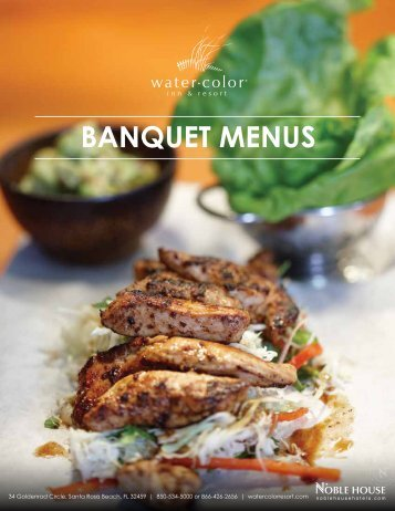 Banquet Menus - WaterColor Inn & Resort