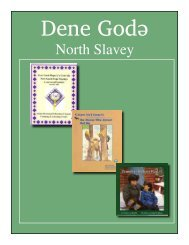 North Slavey Bibliography - South Slave Divisional Education Council