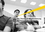 Vier Thesen zur Modernisierung des Campus-Managements - NRW.Bank