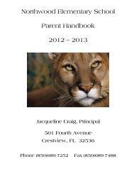 Northwood Elementary School Parent Handbook 2012 – 2013