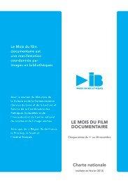 Charte IB 2013 - Le Mois du Film Documentaire